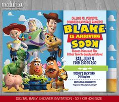 Toy Story Baby Shower Invitation  Toy Story Invite  Toy