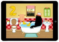 Lonely Beast 123 app by Chris Judge: Hilarious way to teach preschoolers basic numbers.
