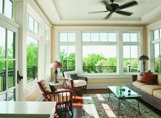 Andersen windows and doors - traditional - windows - indianapolis - Clevernest, Inc. Sunroom Windows, Casement Windows, Living Room Windows, House Windows, My Living Room, Windows And Doors, Large Windows, French Windows, Pella Windows