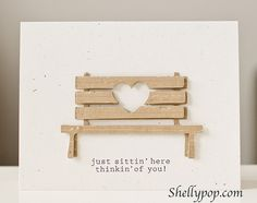 An adorable bench using the Silhouette - hey susan ....