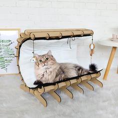 Cat Playhouse, Cat Castle, Pet Furniture, House Furniture, Cat House Diy, Cat Perch, Wood Cat, Cat Hammock, Cat Condo