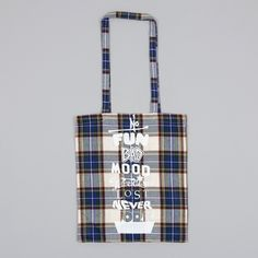 Goods By Goodhood Mantra Tote Bag - Tartan (Image 1)