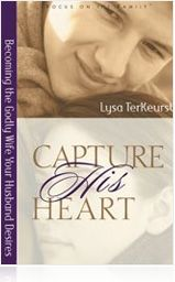 Capture His Heart (For wives to read) -- A truly fulfilling marriage involves two people focusing on each others' needs rather than their own. Lysa TerKeurst, president of Proverbs 31 Ministries, has written a practical guide for each spouse that will open their eyes to the needs, desires, and longings of the other. She offers eight essential criteria for capturing the heart of your spouse, with creative tips on how to accomplish them.