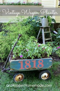 Vintage Wagon Planter