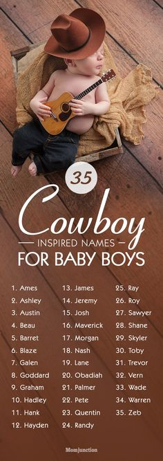 35 Cowboy-Inspired Names For Baby Boys