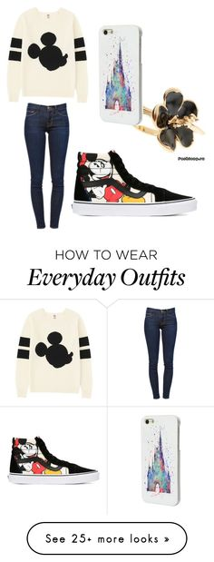 """Everyday Disney inspired outfit"" by jessies3683 on Polyvore featuring Uniqlo, Frame Denim, Vans and Disney"