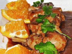 Uma refeição tão simples de confeccionar, diferente mas que fica muito agradável, este frango com sumo de laranja. - Receita Prato Principal : Frango com laranja de Rita mendes