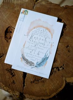 watercolor invitation   Kristin Sweeting #wedding