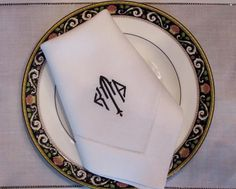 Good Signature Kyle Monogrammed Table Linens. Napkins U0026 Placemats.  Http://bellalino.