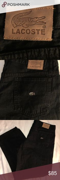Lacoste 38/30 Used but in excellent shape, baggy or loose fit , Lacoste Jeans Relaxed