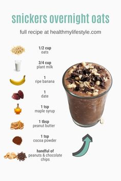Oats Recipes, Snack Recipes, Dessert Recipes, Cooking Recipes, Dinner Recipes, Budget Recipes, Healthy Breakfast Recipes, Healthy Snacks, Healthy Recipes