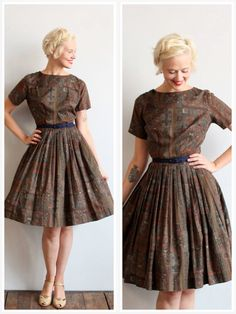 1950s Dress // Hope Reed Dress // vintage 50s por dethrosevintage, $82.00