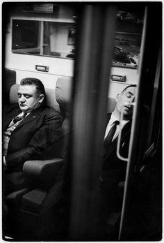 """Henri Cartier-Bresson // France, 1969 - Train """"Le Capitole""""."""