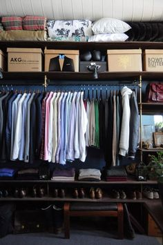 A happy, organized closet is the foundation of a happy, organized home. From ApartmentTherapy.com, tips for streamlining your storage. | thisoldhouse.com