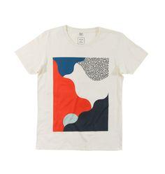 Tee-shirt arty de couleur crème créé par Aristote Truffaut pour MAMAMA. Une pièce originale et stylée déclinée du XS au XL sur ta boutique en ligne préférée !