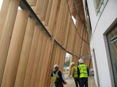 Wooden cladding / profiled / strip CLEAR ELLIPTICAL LOUVERS Power Wood Corp.