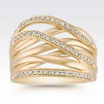 Contemporary Diamond Fashion Ring Image