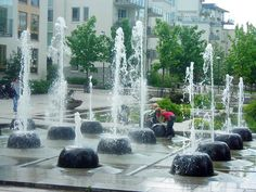 public space, fountains & kids by timrgill, via Flickr