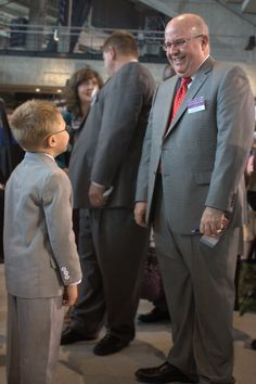 Little boy meeting Brother Sanderson in Indianapolis, Indiana. International Convention 2014