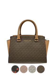 51d4e4614b3 Michael Kors Selma Top Zip Medium Satchel Bag Signature MK #MichaelKors  #Satchel