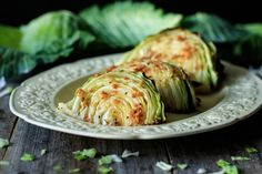 Roasted cabbage wedges are an easy healthy side dish you can serve for a low carb dinner. Simply use fresh green cabbage, garlic, lemon and butter. Enjoy the health benefits of this quick vegetarian recipe that can be roasted in the oven on one tray. Healthy Side Dishes, Vegetable Side Dishes, Side Dish Recipes, Vegetable Recipes, Roasted Cabbage Wedges, Quick Vegetarian Meals, Cooking Recipes, Healthy Recipes, Cabbage Recipes