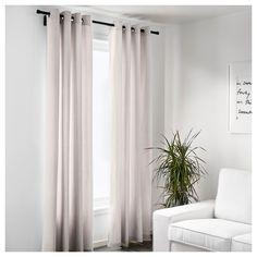 IKEA - MERETE Curtains, 1 pair beige