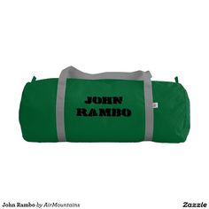 Your Custom Duffle Gym Bag, Emerald with Silver straps