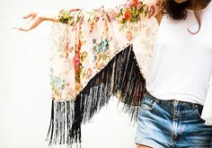 diy fringe kimono