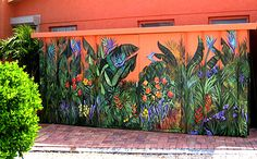 Tropical Mural by Blaine Whitford...would be lovely in a yard that was minimalist.