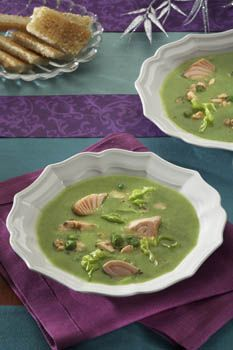 Špenátová s lososem Palak Paneer, Soup, Pudding, Fish, Ethnic Recipes, Desserts, Tailgate Desserts, Deserts, Puddings