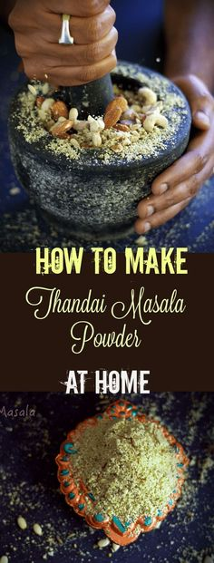 how-to-make-thandai-masala-powder-at-home homemade thandai masala for thandai holi special Source by Sets Indian Drinks, Indian Desserts, Indian Sweets, Indian Food Recipes, Holi Recipes, Indian Dishes, Homemade Spices, Homemade Seasonings, Curry