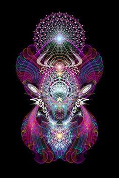 Xooli Gala – Third Eye Tapestries ༺ The Art of Samuel Farrand ༻ Art Fractal, Fractal Design, Psychedelic Art, Chakra, Art Visionnaire, Psy Art, Visionary Art, Sacred Art, Flower Of Life