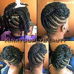 Natural Updo More for mom Natural Hair Braids, Natural Hair Twists, Natural Hair Care, Natural Hair Styles, Natural Curls, Flat Twist Hairstyles, Flat Twist Updo, Braided Hairstyles, Black Hairstyles