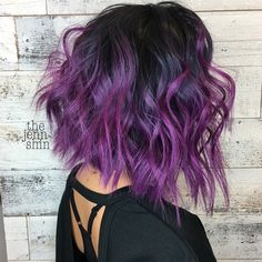 32 Cute Dyed Haircuts To Try Right Now - Ninja Cosmico Ash Blonde Hair Dye, Dyed Hair Purple, Hair Color Purple, Cool Hair Color, Ombre Hair, Plum Hair, Purple Ombre, Ombre Color, Hair Dye Tips