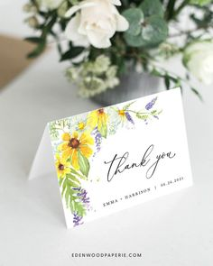 Folded Wedding Thank You Card Purchase, personalize, and print within minutes! Edit using the Templett app in your computer browser – no additional software needed! Please try demo and seek clarification before purchasing the template. FREE DEMO ━━━━━━