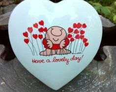Ziggy Jewelry/Trinket Box 'Love Talk' Heart Shaped Porcelain Jewelry Gift Box Valentines Gift For Her (L40)