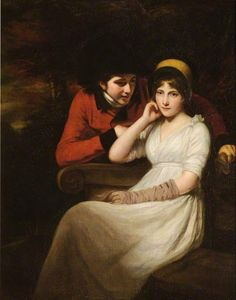 John Opie 'Courtship in the Park' (1797)