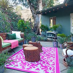 colorful patio #family #summer #patio