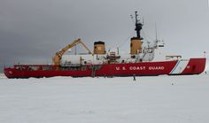 US Coast Guard Cutter Polar Star, a heavy icebreaker home-ported in Seattle, sits hove-to on the ice in the Ross Sea near Antarctica while underway in support of Operation Deep Freeze 2015, Jan. 9, 2015. Deep Freeze is a multi-agency operation, the military component of the U.S. Antarctic program, which is managed by the National Science Foundation. U.S. Coast Guard photo by Petty Officer 1st Class George Degener.
