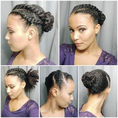 Happy Friday!! I did this style a couple of weeks back but I only posted one side of my head. Here are the other sides haha. This was a quick style I did on a failed braid out. 1) Make three chunky flat twists at the front of your hair. 2) Gather hair into a ponytail. 3) Loosely twist ponytail ( I did 4 twists) and pin into a bun. #flattwists #twistedupdo #stylewitheden