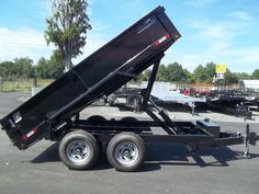 6 x 12 hawke cardinal dump trailer Best Trailers, Dump Trailers, Gooseneck Trailer, Trailer Plans, Covered Wagon, Offroad, Restoration, Monster Trucks, Restore
