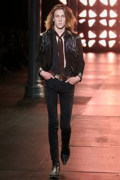 See the complete Saint Laurent Spring 2015 Menswear collection.