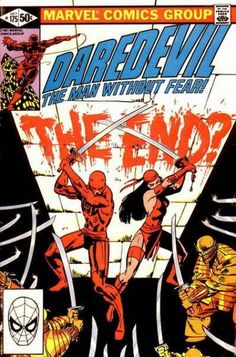 The cover to Daredevil #175 (1981), art by Frank Miller & Klaus Janson