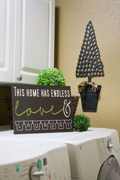 Laundry Room Sign Decor Mud Room. $25.00, via Etsy.