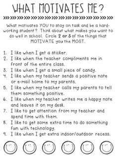 What Motivates Your Students? A Student Questionnaire by Less Work More Play Classroom Rewards, Classroom Behavior Management, 4th Grade Classroom, Classroom Reward System, Classroom Economy, Behavior Incentives, Student Behavior, Classroom Decor, Student Teaching