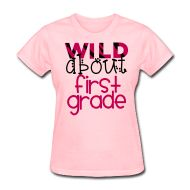 wild about first Relaxed fit standard weight t-shirt for women, 100% pre-shrunk cotton (50%cotton/50%polyester for deep heather color), Brand: Gildan
