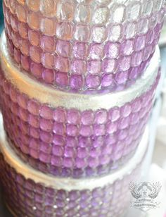 SHINY WEDDING CAKES | ... silver leaf wedding cake. I attached them with a little corn syrup