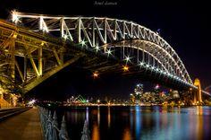 SYDNEY HARBOUR - The famous icon Sydney Harbour Bridge and Sydney Opera House at…
