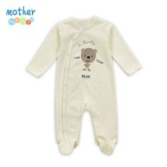 Retail New Arrival100% Pure Cotton Baby Rompers Girl Boy Baby Pajamas Cute Bear Newborn Next Jumpsuits & Rompers Baby Product