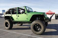 2009 Jeep Wrangler Unlimited Rubicon by Bushwacker Inc. at SEMA Jeep 4x4, Jeep Truck, Chevy Trucks, Jeep Wrangler Unlimited Rubicon, 2009 Jeep Wrangler, Ford Mustang, Nissan Gtr, Jeep Scrambler, Custom Jeep